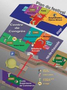 Une vue 3D éclatée des lieux du festival