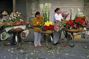 vendeuses fleurs