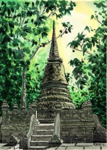 st.et.chanthaburi alogkorn chedi pagoda