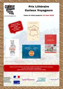 affiche prix littéraire Curieux Voyageurs 2015
