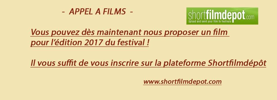 APPEL A FILMS 2017